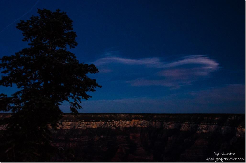 Light cloud North Rim Grand Canyon National Park Arizona
