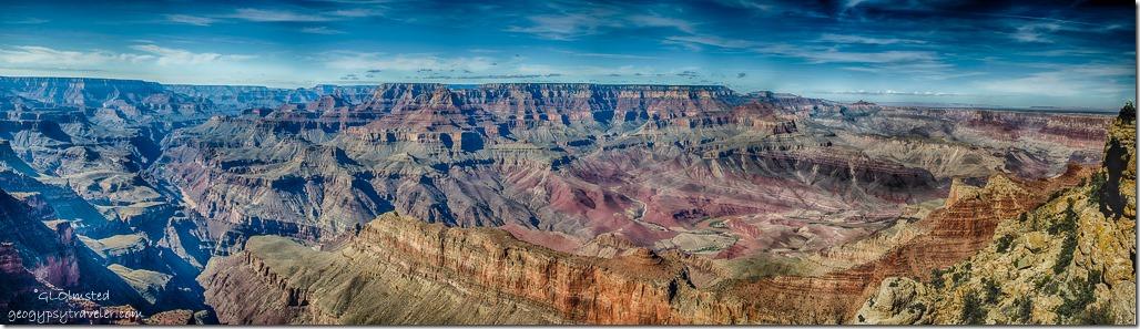 Colorado River to Echo Cliffs from Lippan Point South Rim Grand Canyon National Park Arizona
