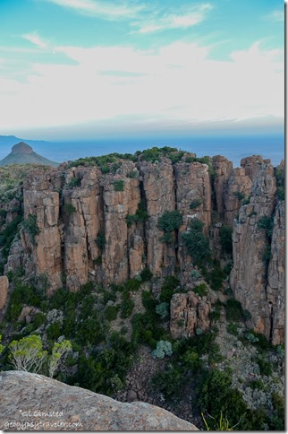 Dolomite cliffs above Valley of Desolation Camdeboo National Park Eastern Cape Graaff-Reinet South Africa