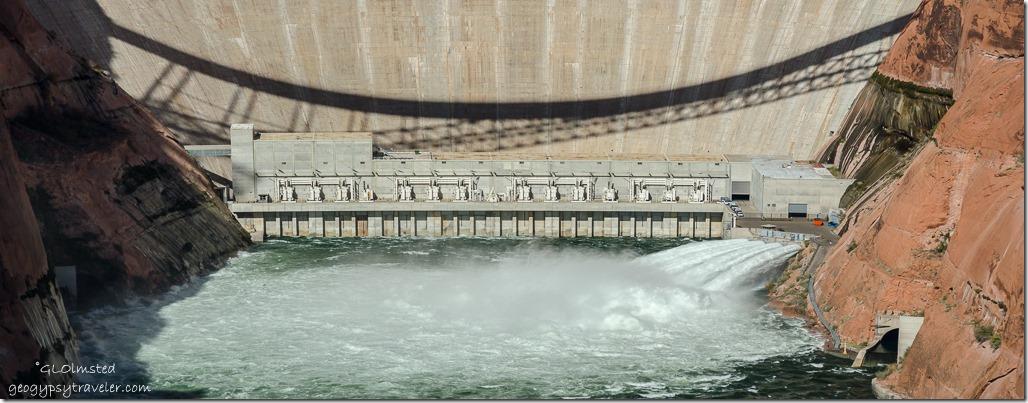 4-tube water release Glen Canyon Dam overlook Page Arizona