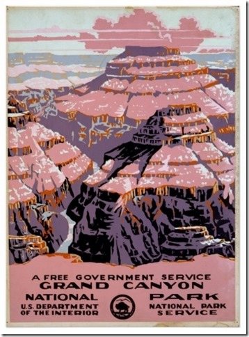 Vintage Grand Canyon National Park WPA poster