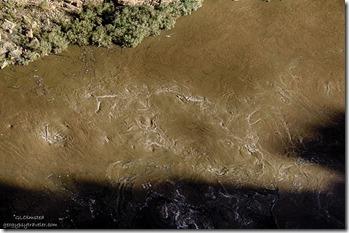 Swirls & sediments Colorado River below Navajo bridge Marble Canyon Arizona