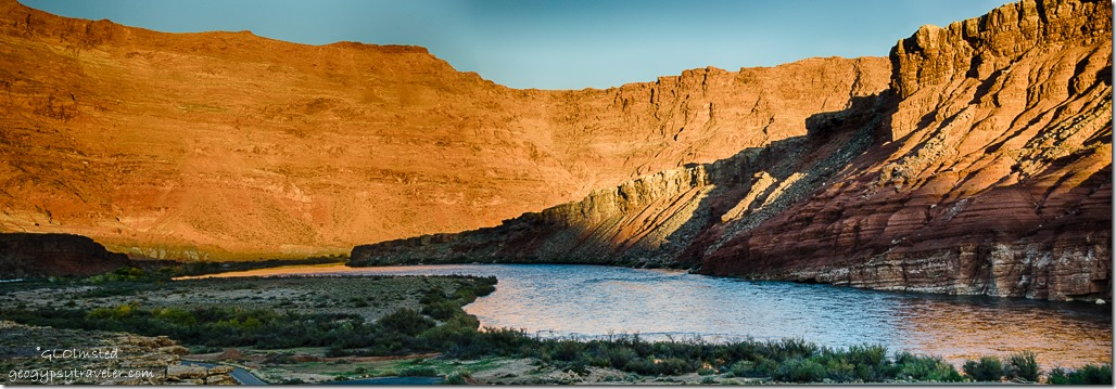 Upstream Colorado River view from Lee's Ferry campground Glen Canyon National Recreation Area Arizona