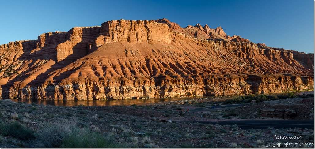 Colorado River view from Lee's Ferry campground Glen Canyon National Recreation Area Arizona