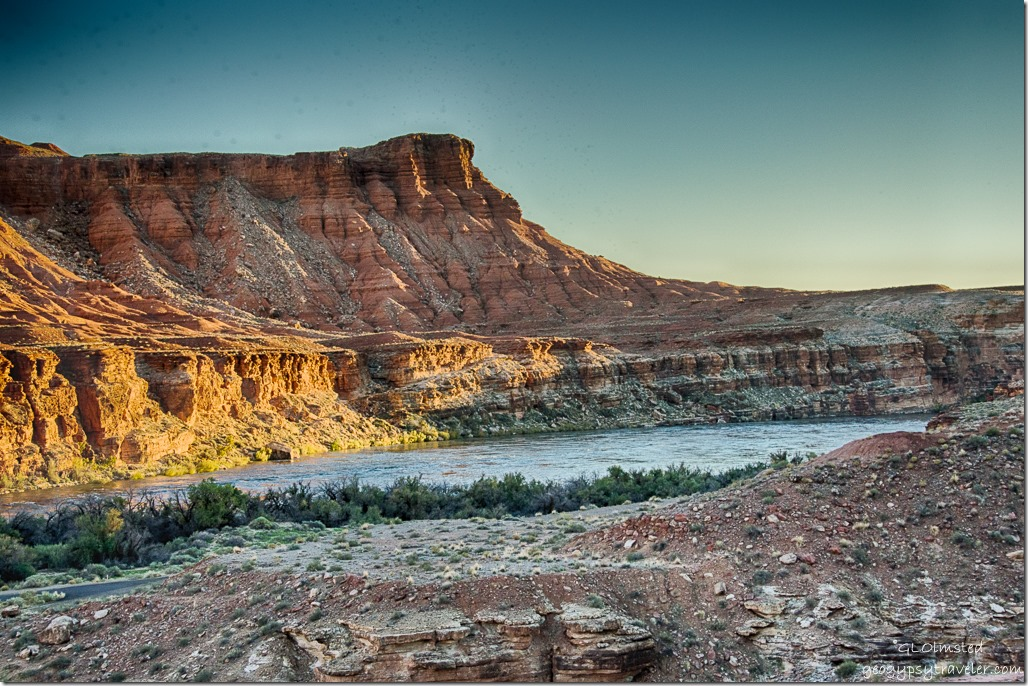 Downstream Colorado River view from Lee's Ferry campground Glen Canyon National Recreation Area Arizona