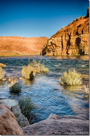 Gaelyn's shadow upstream Colorado River Lee's Ferry Glen Canyon National Recreation Area Arizona