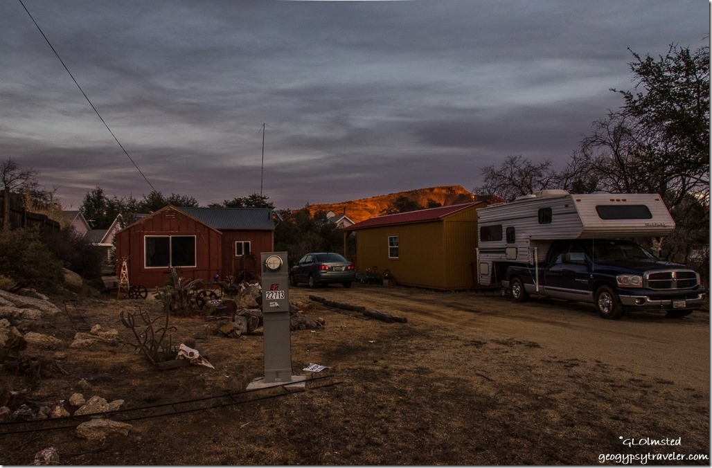 Sunset Berta's house & truck camper Yarnell Arizona
