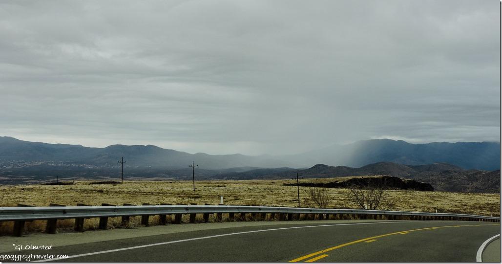 Rain clouds Bradshaw Mountains SR89 North Arizona