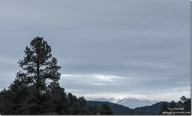 Snow Humphreys Peak I40 East Arizona
