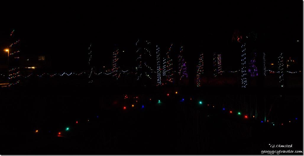 Christmas lights KOA Flagstaff Arizona