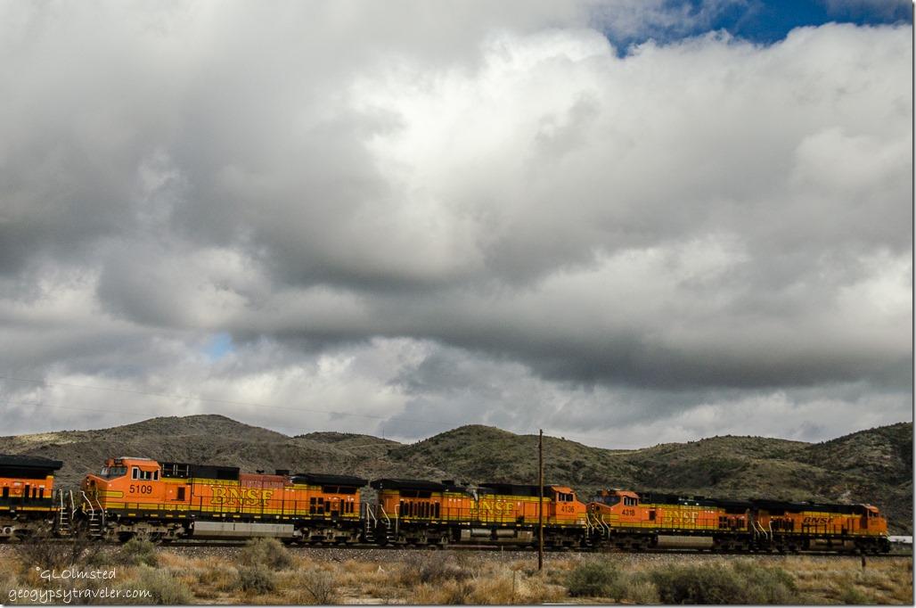 Clouds train from RV Kirkland Arizona