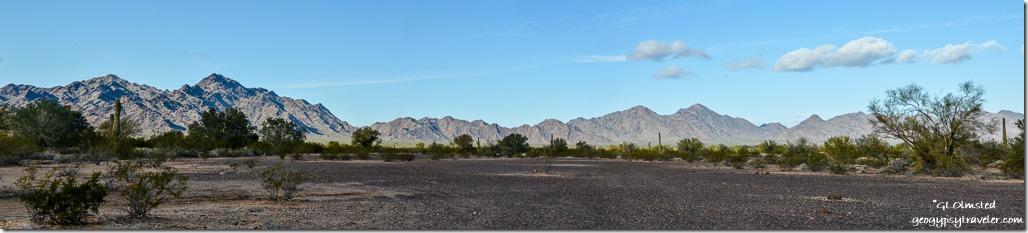West view Trigo Mountainss BLM US95 Arizona