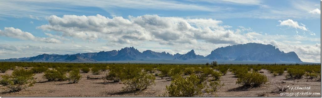 KOFA Mountains clouds BLM US95 South of Quartzsite Arizona