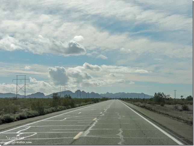 US95 South Castle Dome Mountains Arizona