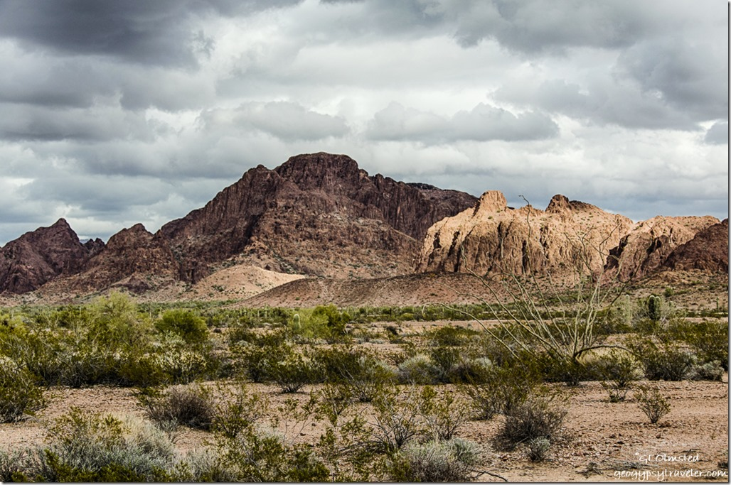 Light & shadows KOFA Mountains King Road BLM Arizona