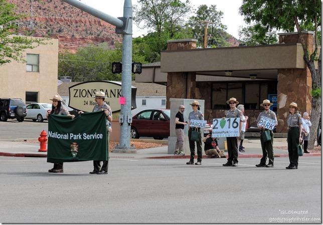 National Park Service Rangers Earthfest parade Kanab Utah