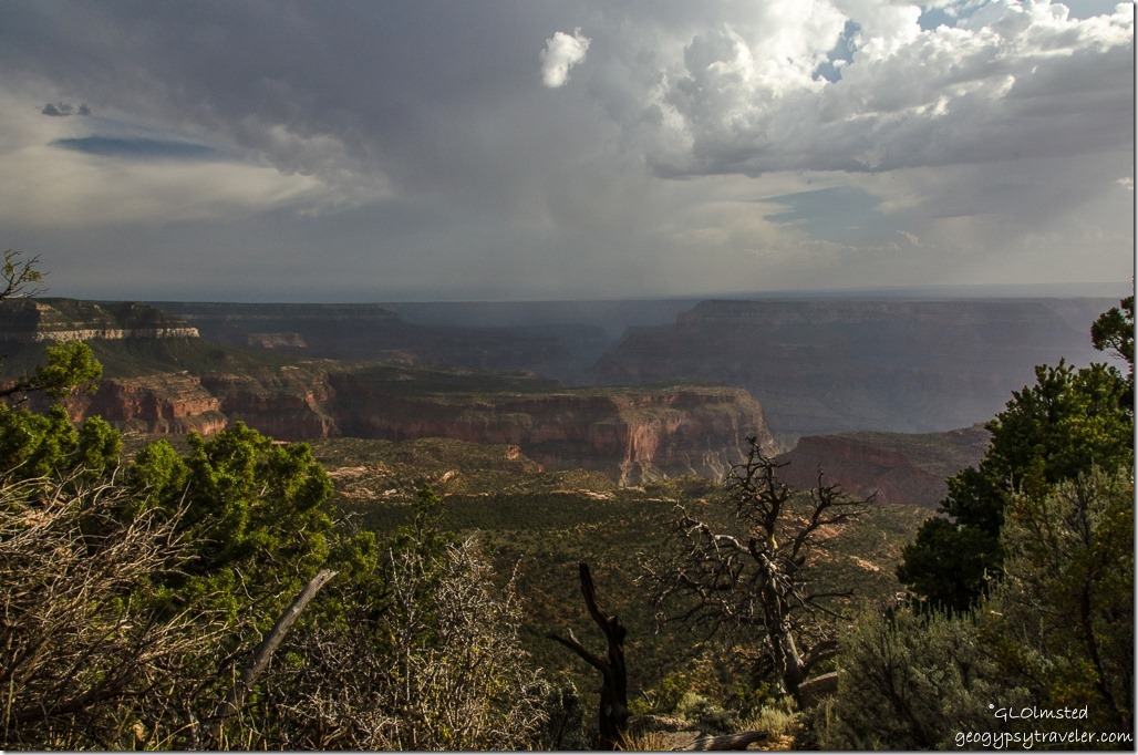 Stormy skies view South Crazy Jug Point Kaibab National Forest Arizona