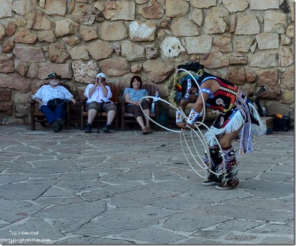 Derek Suwaima-Davis hoop dancing Heritage Days North Rim Grand Canyon National Park Arizona