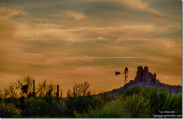 Sunset Darby Wells Road BLM Ajo Arizona