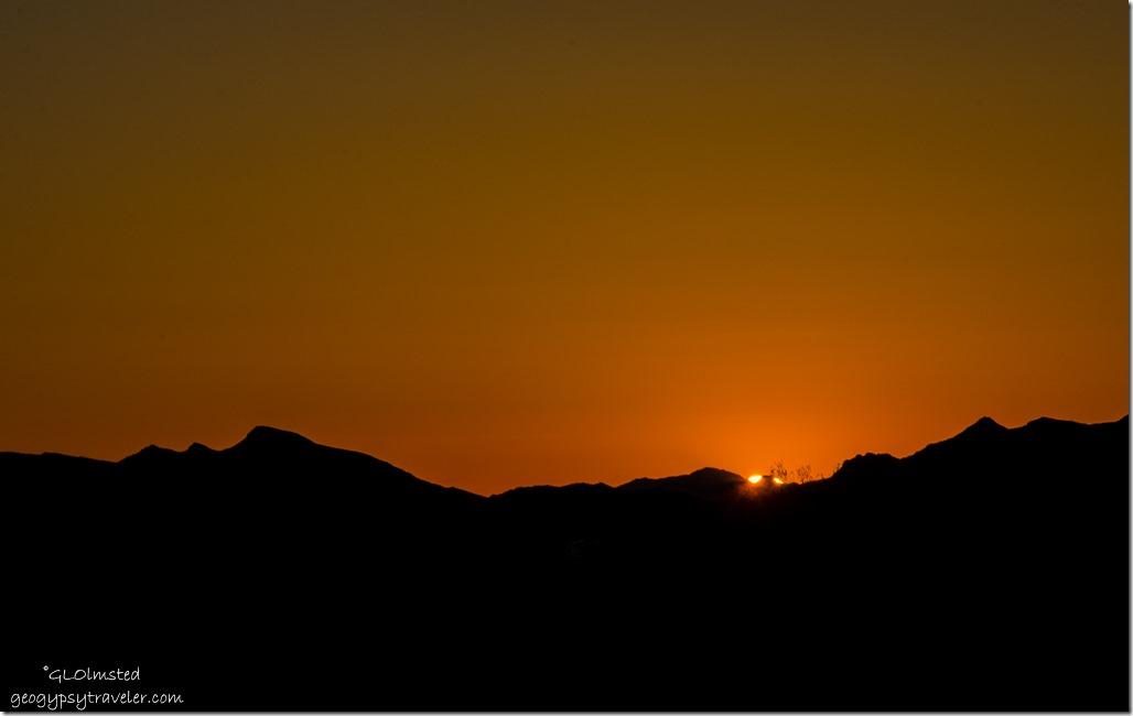 Sunset Plomosa Road BLM Quarzsite Arizona