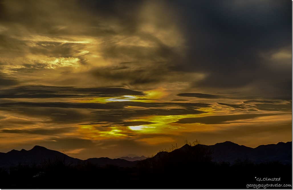 Sunset Plamosa Road BLM Quartzsite Arizona