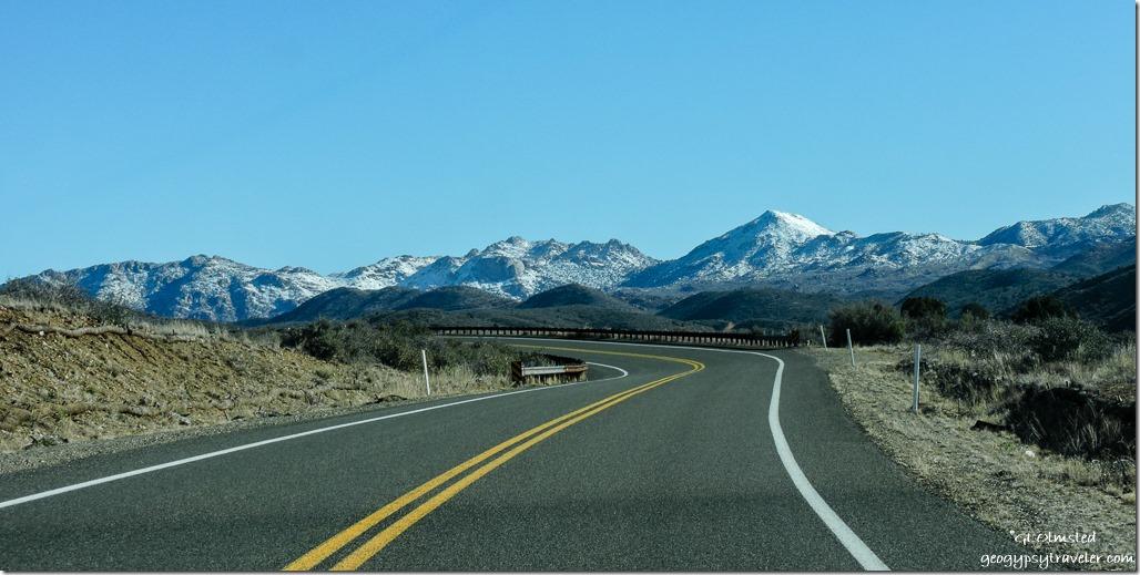 Snow Bradshaw Mountains Iron Springs Road Arizona