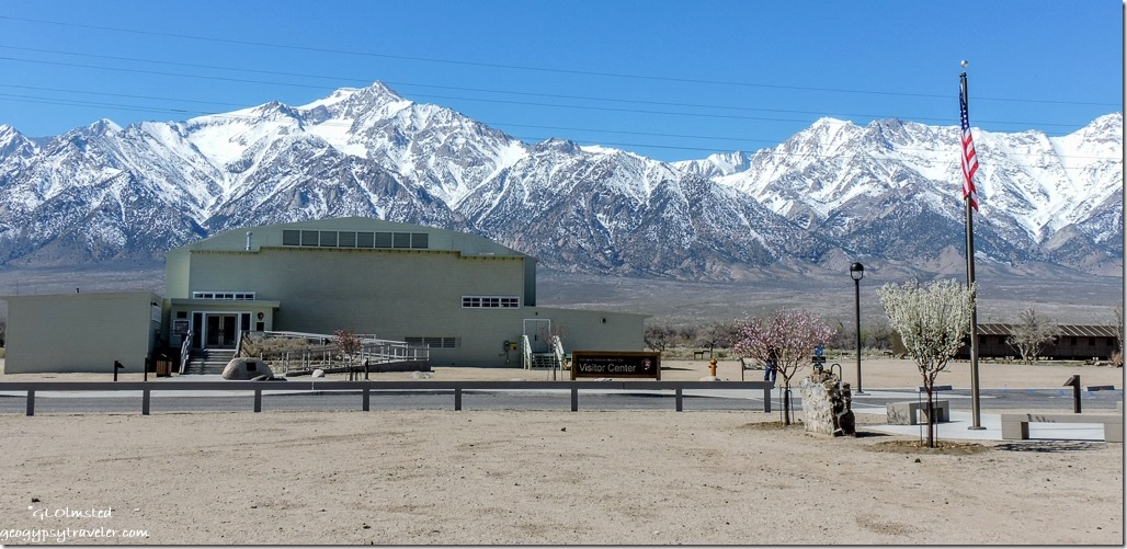 Visitor Center gymnasium Manzanar National Historic Site Independence California