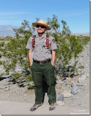 Ranger Mike Mesquite Flat sand dunes Death Valley National Park California