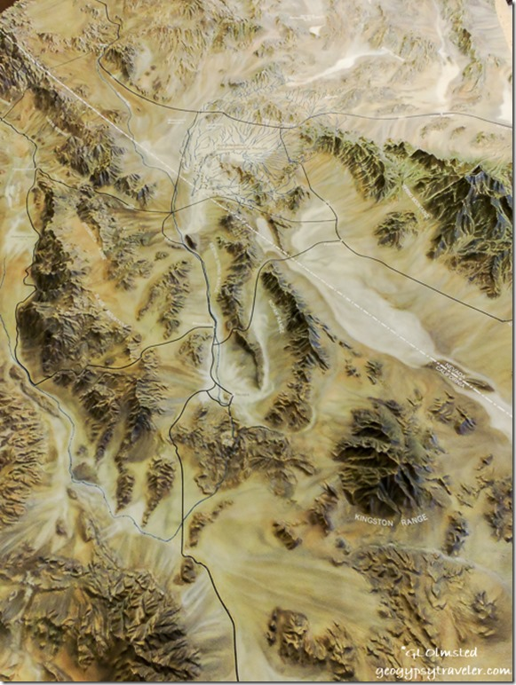 Relief map Ash Meadows National Wildlife Refuge Nevada