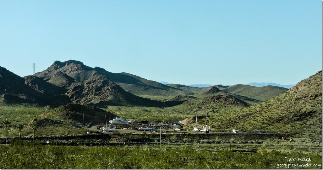 Dry docked Lakeshore Drive Lake Mead National Recreation Area Nevada