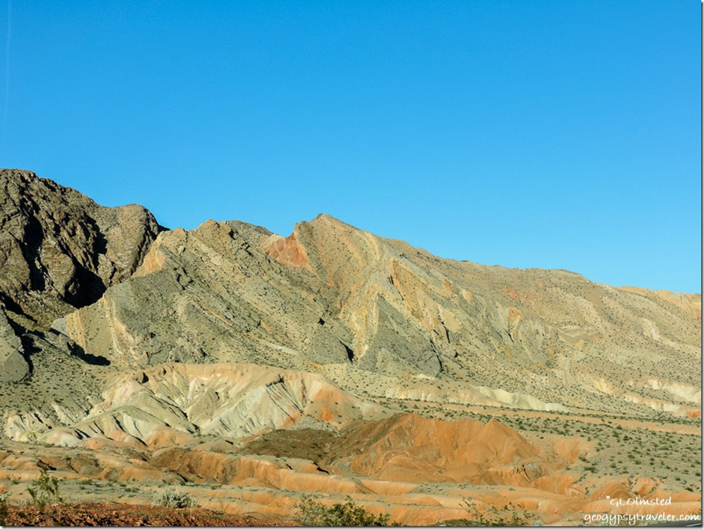 Folded rock Lakeshore Drive Lake Mead National Recreation Area Nevada