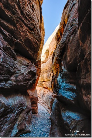 Slot canyon White Domes trail Valley of Fire State Park Nevada