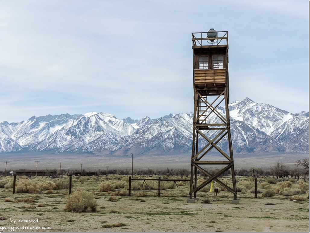 watchtower Manzanar National Historic Site Independence California