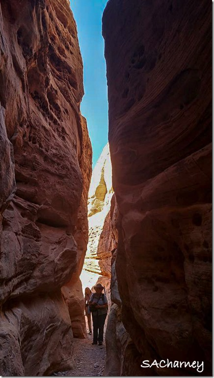 Gaelyn & Nina slot canyon Valley of Fire State Park Nevada by Sacha Ann Charney