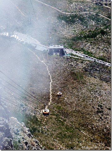 Both cableways Table Mountain National Park Cape Peninsula South Africa