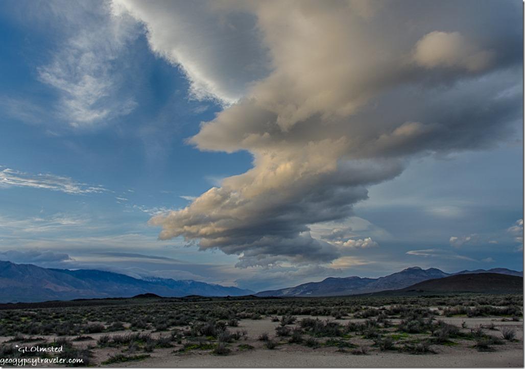 Sunset clouds Fossil Falls Little Lake California