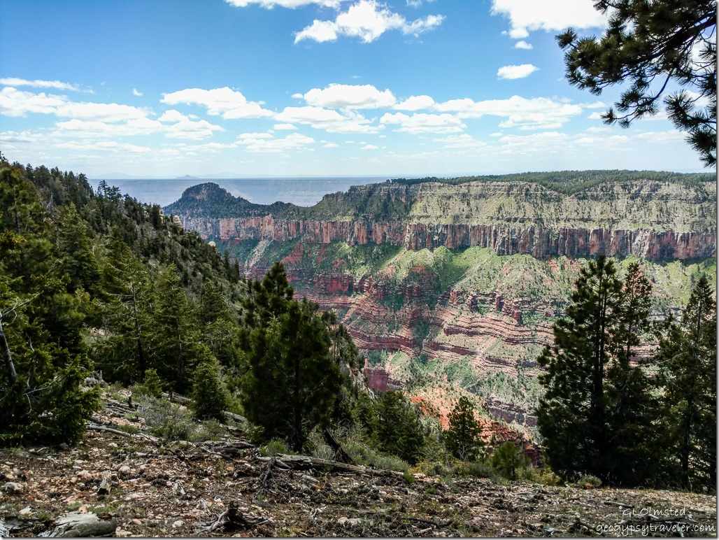 Transept canyon Walhalla plateau Oza butte South Rim from North Rim Grand Canyon National Park Arizona