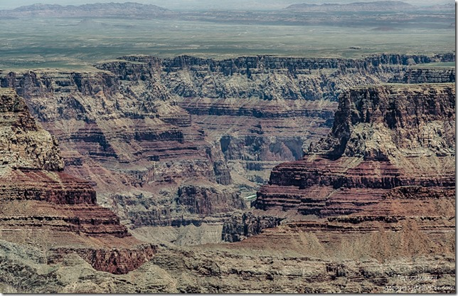 Little Colorado River from Cape Final North Rim Grand Canyon National Park Arizona