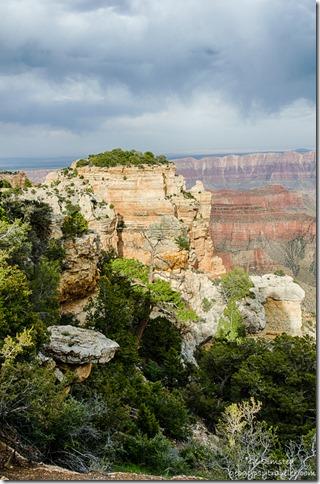 light shadow Sky Island Walhalla overlook North Rim Grand Canyon National Park Arizona