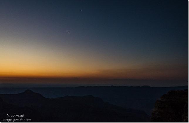 crescent moon Cape Royal North Rim Grand Canyon National Park Arizona