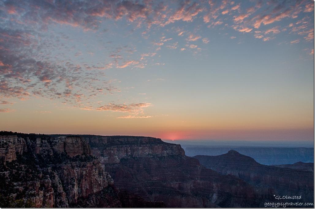 sunrise Cape Royal North Rim Grand Canyon National Park Arizona
