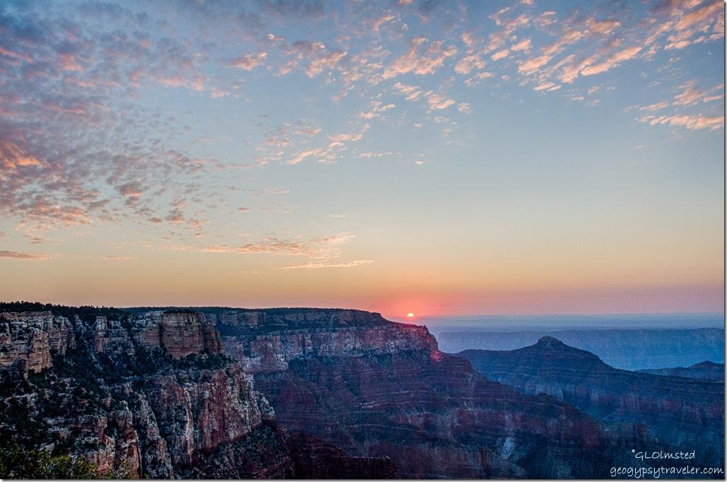 soltice sunrise Cape Royal North Rim Grand Canyon National Park Arizona