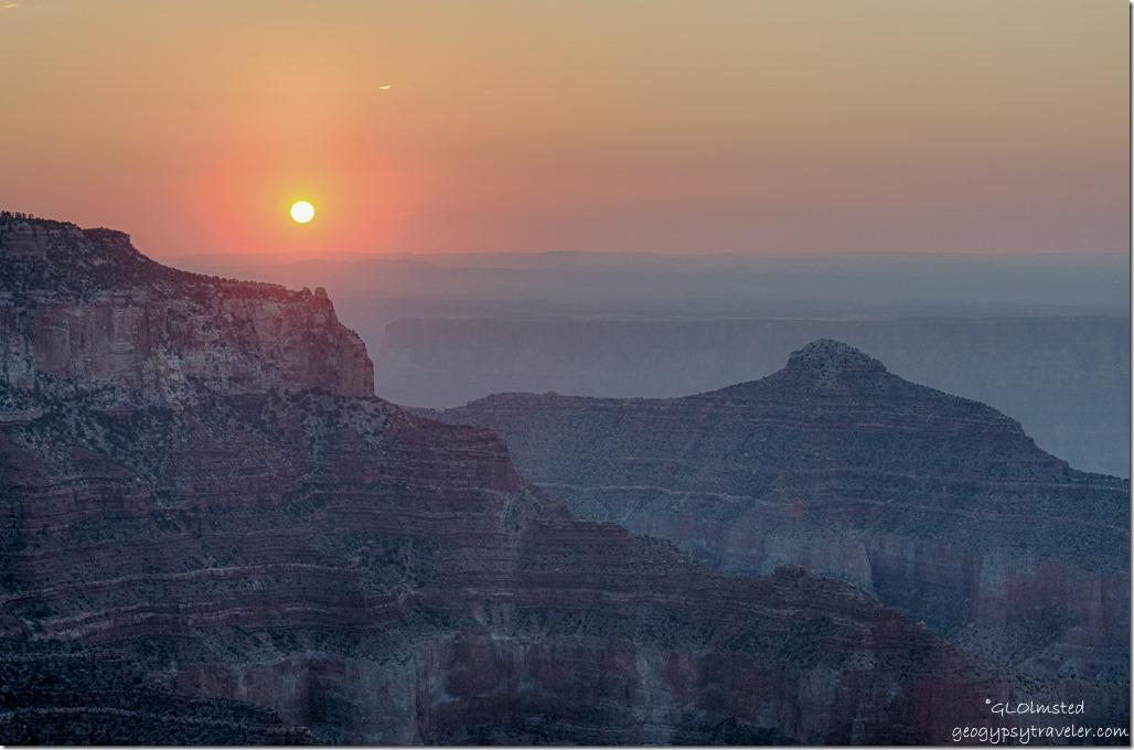 solstice sunrise Cape Royal North Rim Grand Canyon National Park Arizona