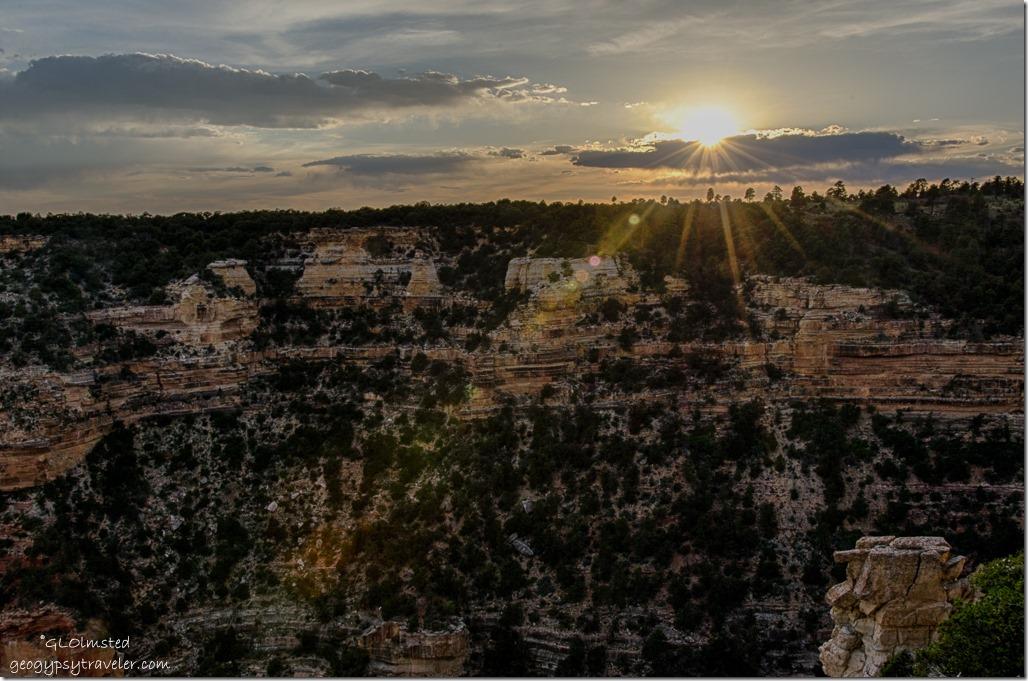 Sunset Cape Royal North Rim Grand Canyon National Park Arizona