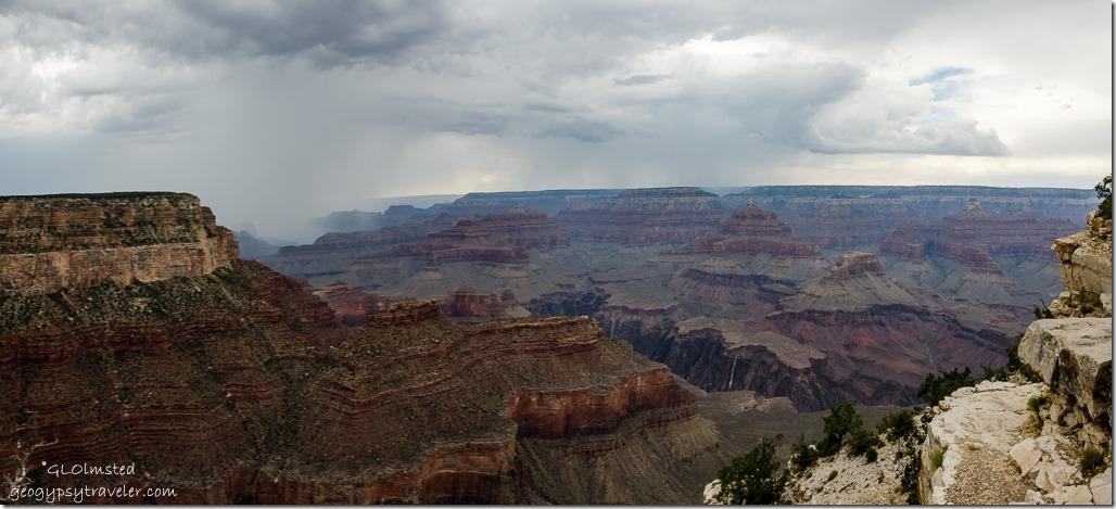 rain canyon clouds Rim trail South Rim Grand Canyon National Park Arizona