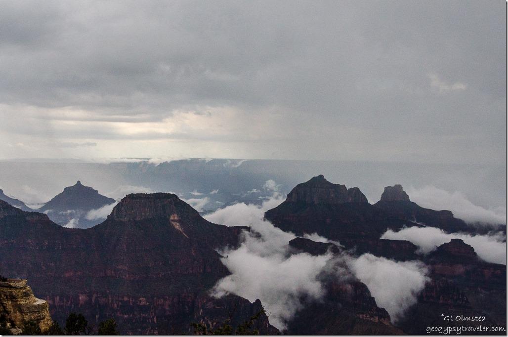 Inversion around temples North Rim Grand Canyon National Park Arizona