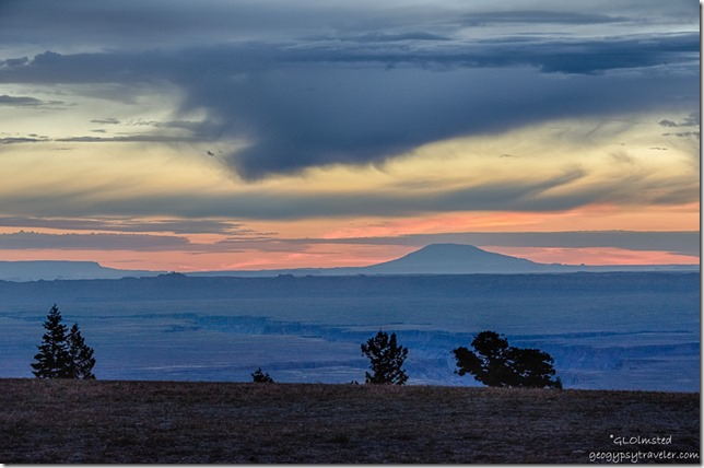 sunrise Navajo Mountain from Marble View Kaibab National Forest Arizona