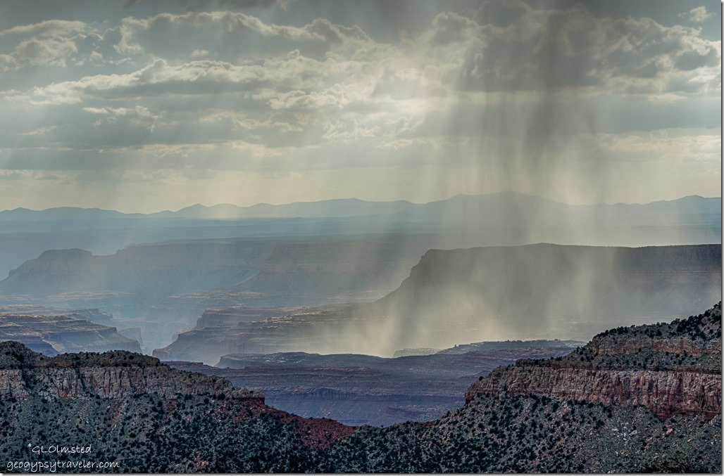 storm from Crazy Jug Point Kaibab National Forest Arizona