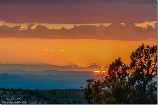 sunset rain from Crazy Jug Point Kaibab National Forest Arizona