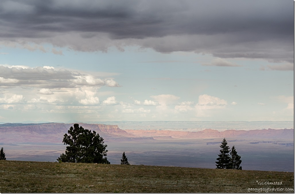 late light clouds Vermilion & Echo Cliffs from Marble View Kaibab National Forest Arizona